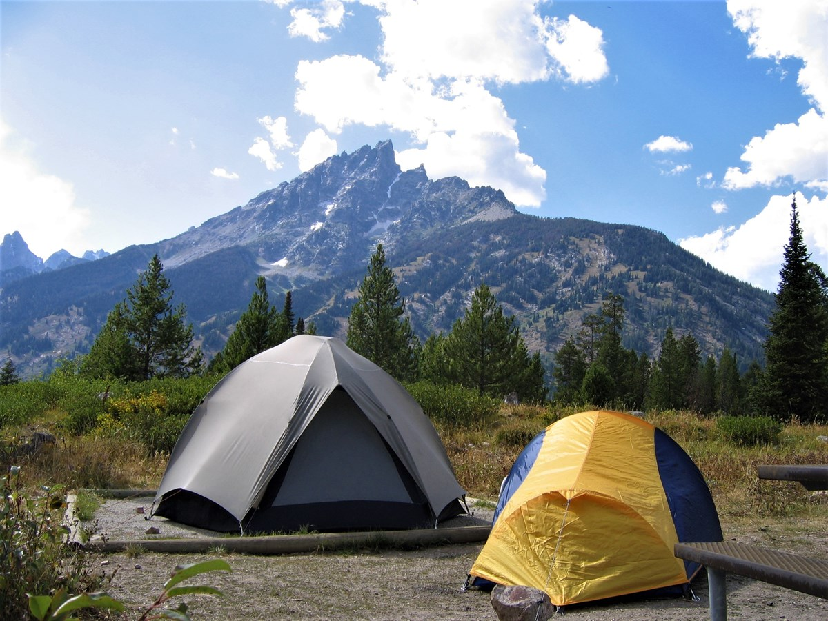 Young Adults Hiking and Camping Trip